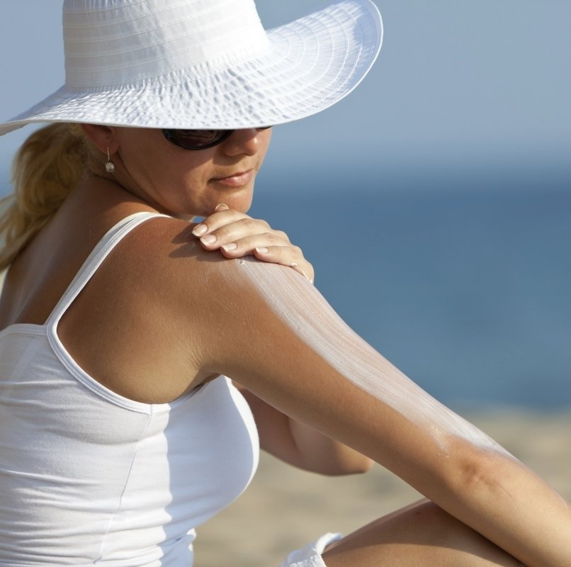 Sunscreens prevent sun damaged skin